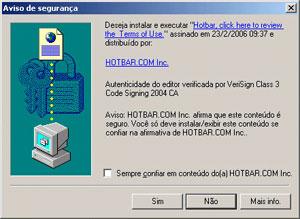 Janela do ActiveX usava até o Windows XP SP2, em 2004. Um único clique em Sim era suficiente para infectar o PC (Foto: Reprodução)