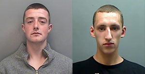 Os jovens Jordan e Perry presos após publicarem mensagens no Facebook (Foto: Divulgação / Polícia de Cherishe)