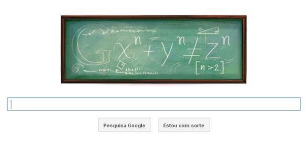 Google publicou uma homenagem ao matemático francês Pierre de Fermat (Foto: Reprodução)