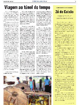Edição do Jornal Escolar em que a história de Zé do Caixão foi contada pelos alunos da Escola Municipal Santos Dumont (Foto: Reprodução/Janaína Martins Toledo)