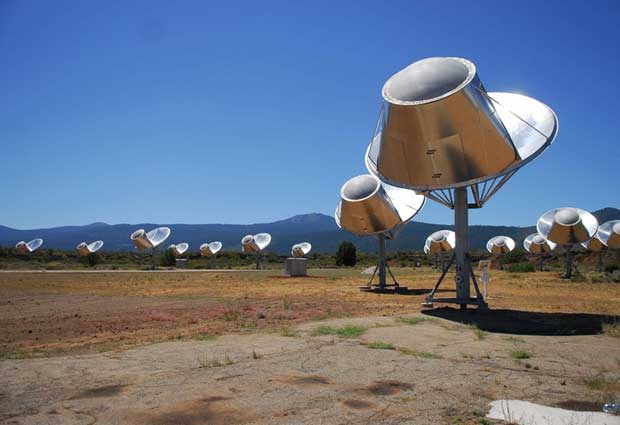 Complexo Allen Telescope Array, do Seti, na Califórnia, que monitora indícios de presença extraterrestre (Foto: BBC)