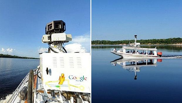 A inclusão da Amazônia no Google Street View foi anunciada na quarta-feira (17) pelo Google e pela Fundação Amazônia Sustentável (FAS). A tecnologia promoverá 'um tour interativo dentro da floresta amazônica', destacou Virgilio Viana, superintendente-geral da FAZ, em comunicado. (Foto: Evaristo SA/AFP)