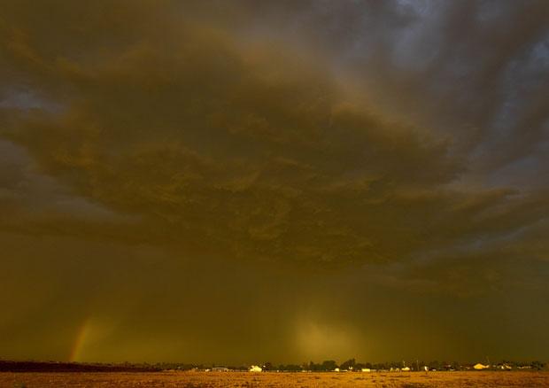 Tempestade de areia também foi registrada na cidade de Queen Creek (Foto: AP)