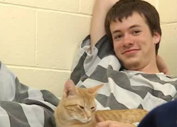 Detentos em prisão no estado de Nebraska ganharam companhia de gatos. (Foto: Reprodução/KNOP)