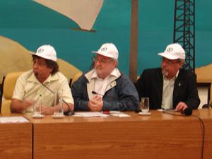Vereadores se filiaram nesta sexta ao PV (Foto: Letícia Macedo/G1)