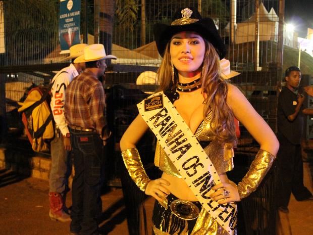 Rainha em ação na Festa do Peão de Barretos (Foto: Paulo Toledo Piza/G1)