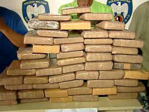 Polícia prende 5 homens e apreende 58kg de maconha no Espírito Santo (Foto: Reprodução/TV Gazeta)