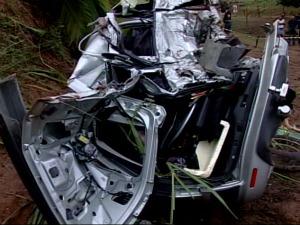 Urubu motiva acidente e 2 pessoas morrem em rodovia estadual no ES (Foto: Reprodução/TV Gazeta)