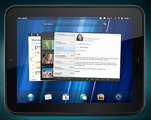 O TouchPad, da HP, tem tela de 9,7 polegadas e roda a plataforma WebOS (Foto: Divulgação)