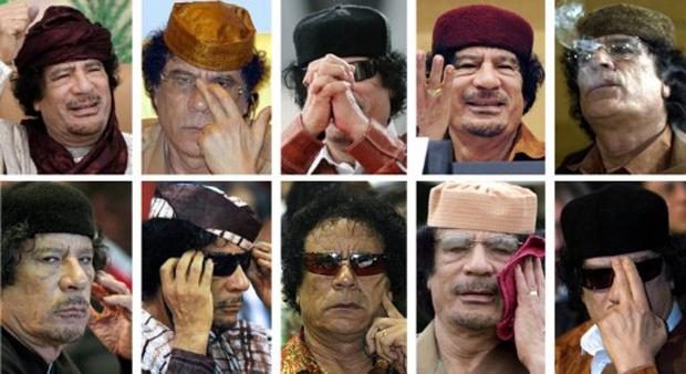 Kadhafi em cenas (Foto: AFP)