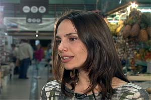 Louise Saliba ok grep (Foto: Rede Globo)