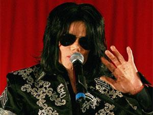 Michael Jackson em entrevista coletiva em 5 de março de 2009 (Foto: AFP)