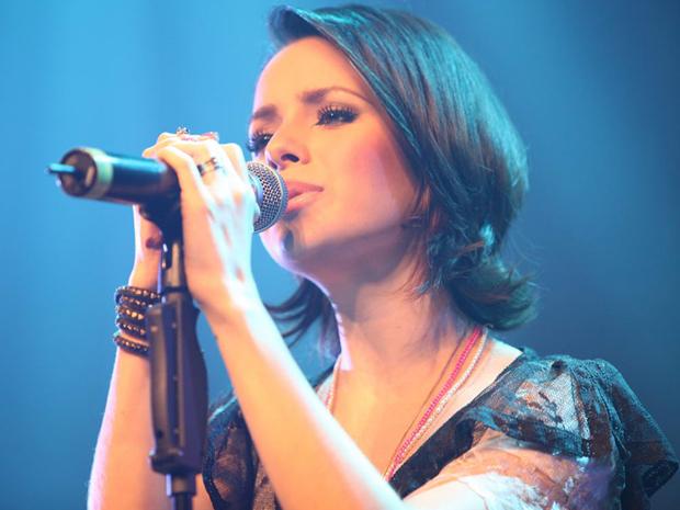 Sandy canta no Citibank Hall, em São Paulo, em novembro de 2010 (Foto: Divulgação/MRossi)