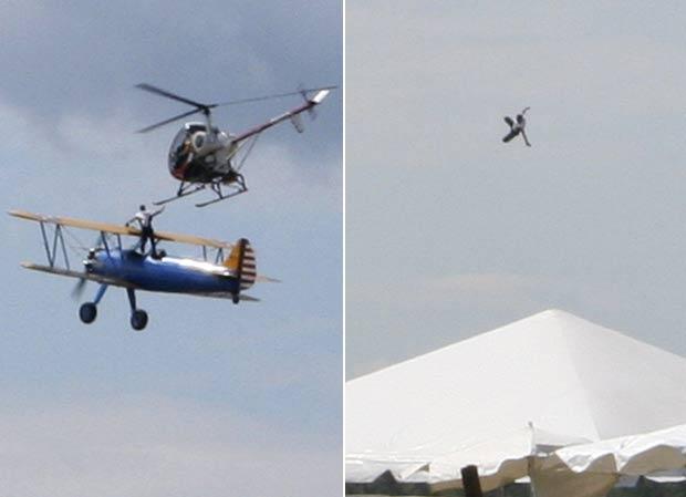 Todd Green morreu após cair ao tentar passar de um avião para um helicóptero (Foto: Jeremy Mitchell/AP)