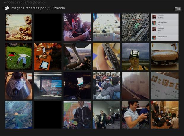 A galeria de fotos no Twitter estreou na segunda-feira (22) (Foto: Divulgação)