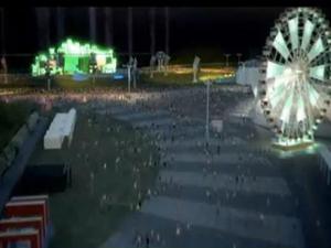 Cena do vídeo sobre a estrutura da Cidade do Rock (Foto: Divulgação)