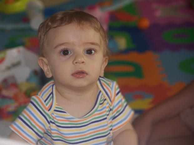 Guilherme tem 11 meses, prestes a completar o primeiro ano de vida (Foto: Arquivo Pessoal/Luiz Cláudio Anísio)