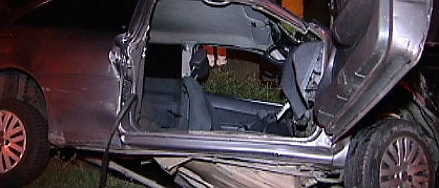 Acidente deixa uma pessoa ferida na rodovia Darly Santos (Foto: Reprodução/ TV Gazeta)