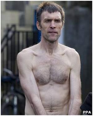 O escocês Stephen Gough, que se recusa a usar roupas (Foto: PPA)