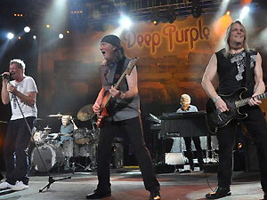 A banda britânica Deep Purple (Foto: AFP)