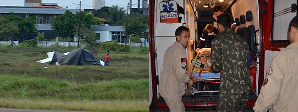 Monomotor cai e deixa piloto ferido no Aeroclube da Paraíba (Foto: Walter Paparazzo/G1)