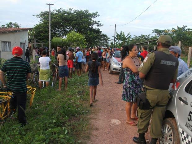 Crime ocorreu em bairro na periferia da cidade de Santa Izabel, que fica na região metropolitana de Belém (Foto: Cláudio Pinheiro/O Liberal)
