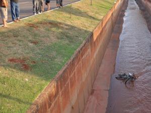 Homem de 62 anos morre ao cair em córrego na avenida Ernesto Geisel (Foto: Felipe Bastos/G1 MS)