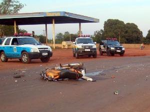 Motociclista morre em colisão com carreta em Iguatemi (Foto: Divulgação/Polícia Civil)