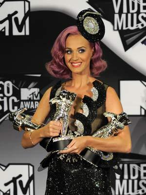 Katy Perry faturou três prêmios, incluindo o de melhor vídeo do ano. (Foto: AP Photo)