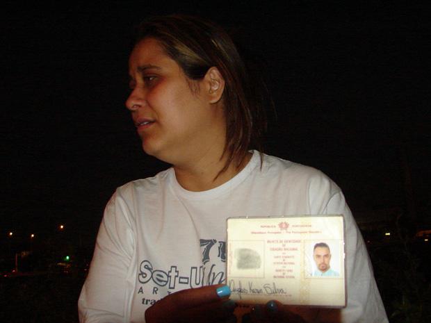 Mulher da vítima diz querer justiça (Foto: Fabiano Correia/G1)