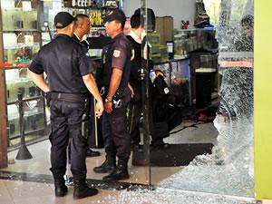 tiroteio em Cuiabá (Foto: Ericksen Vital/G1)