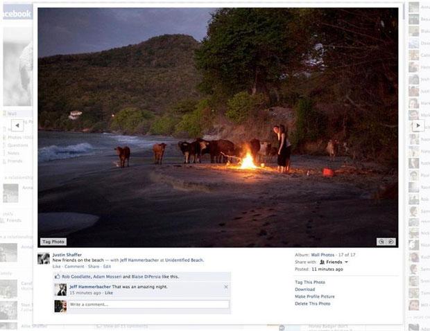 Facebook mudou área de visualização de fotos (Foto: Divulgação)