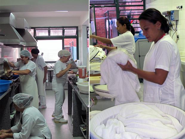 Cardápio pode ser adaptado para cada criança em creche no Sudoeste. Instituição também tem lavanderia própria (Foto: Jamila Tavares/G1)