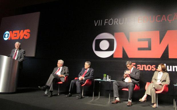 Especialistas debateram os rumos da educação no Fórum Globo News (Foto: Paulo Guilherme/G1)