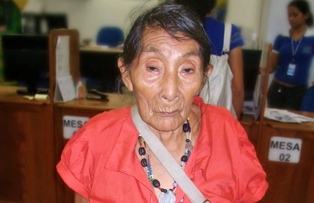 Maria Lucimar Pereira vai completar 121 anos de idade (Foto: INSS/Survival International )