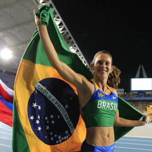 Fabiana Murer ganha o 1º ouro do Brasil em mundiais de atletismo (AP)