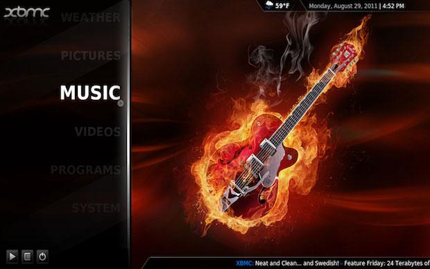 Música XBMC (Foto: Reprodução)