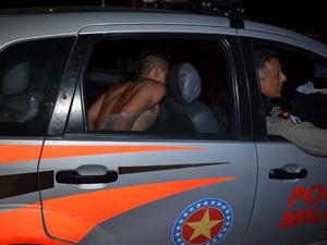 Suspeito de matar idoso é preso em João Pessoa  (Foto: Walter Paparazzo/G1)