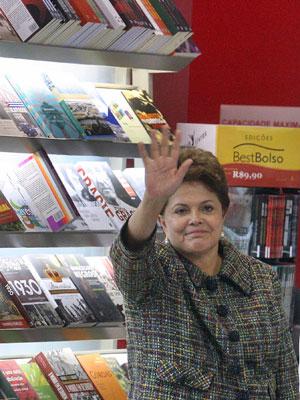 A presidente Dilma Rousseff, durante a cerimônia de abertura da 15ª Bienal do Livro do Rio de Janeiro, nesta quinta-feira (1º), na zona oeste do Rio de Janeiro (Foto: Marcos de Paula/AE)