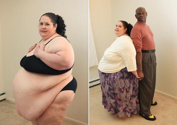 Fotos de personas gordas y delgadas