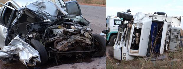 Motorista morre após colidir com caminhão em estrada de MT (Foto: Reprodução /TVCA)