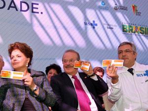 Presidenta Dilma Rousseff, governador Tarso Genro (RS) e ministro Alexandre Padilha (Saúde) participam de entrega de novos leitos no Hospital Universitário da Universidade Luterana do Brasil (Ulbra). (Canoas-RS, 02/09/2011) (Foto: Roberto Stuckert Filho/PR)