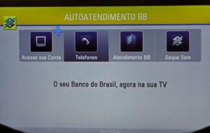 Inicialmente, aplicativo para Smart TV permte verirficar saldo (Foto: Gustavo Petró/G1)