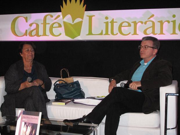 Edney Silvestre e Ana Maria Machado (Foto: Carla Meneghini/G1)