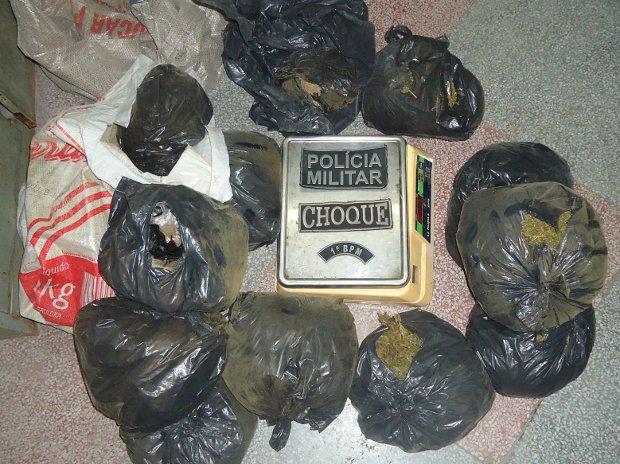 Polícia divulga imagem da droga apreendida em João Pessoa (Foto: Divulgação/Pereira Júnior)