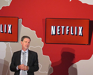 O diretor-geral do Netflix, Reed Hastings, lan&#231;ou o servi&#231;o no Brasil nesta segunda (5) (Foto: Laura Brentano/G1)