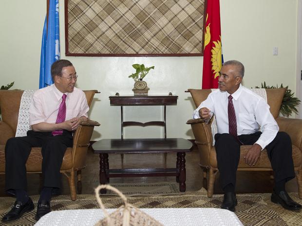 O secretário-geral da ONU, Ban Ki-moon, junt.. (Foto: Reuters)