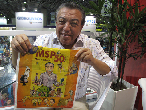 Projeto do cartunista Mauricio de Sousa trará personagens da Turma da Mônica adultos (Foto: Carla Meneghini/G1)