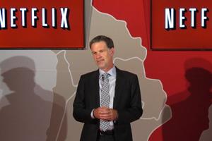 O CEO do Netflix, Reed Hastings, lançou o serviço no Brasil nesta segunda (5) (Foto: Laura Brentano/G1)