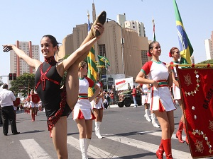 Desfile de 7 de Setembro em Goiânia (Foto: Domicio Gomes)